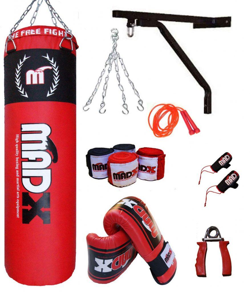 soporte de pared para saco de boxeo esado
